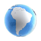 South America on silver Earth Stock Photography