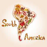 South america sketch concept Royalty Free Stock Image