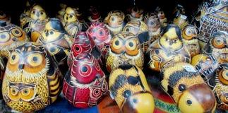 South America souvenir, wooden owl Royalty Free Stock Photo