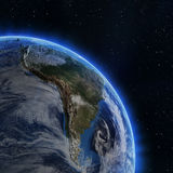 South America from space Royalty Free Stock Images