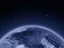 South America from space at night Royalty Free Stock Image