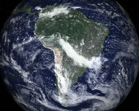 South AMerica Space Satellite View Stock Photo