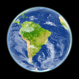 South America from space Stock Images
