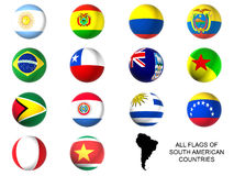 South america state flags Stock Images