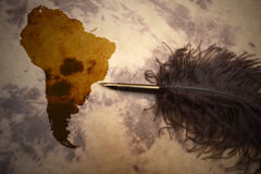 South America - terra incognita Royalty Free Stock Images