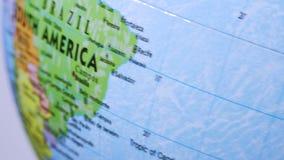 South America. Terrestrial Globe 4K stock video footage