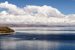 South America, Titicaca lake, Bolivia, Isla del Sol landscape Stock Photography