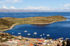 South America, Titicaca lake landscape Stock Image