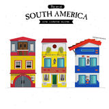 South America townhouse. home set -  Royalty Free Stock Photos