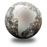 South America on translucent Earth Stock Photo