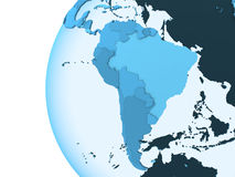South America on translucent Earth Royalty Free Stock Image