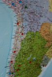 South America Travel Planning Map Royalty Free Stock Photography