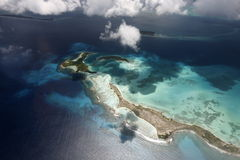 SOUTH AMERICA VENEZUELA LOS ROQUES AIR VIEW Royalty Free Stock Image