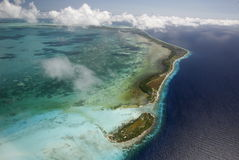 SOUTH AMERICA VENEZUELA LOS ROQUES AIR VIEW Stock Photography