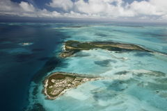 SOUTH AMERICA VENEZUELA LOS ROQUES AIR VIEW Royalty Free Stock Photography