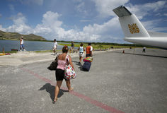 SOUTH AMERICA VENEZUELA LOS ROQUES AIRPORT Royalty Free Stock Photo