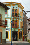 South American Architecture. Colorful building in South America royalty free stock image