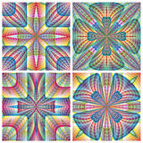 South American Art Pattern. Modern design with ancient motifs with three dimensional effects in vector art on white background for interior design Royalty Free Stock Photos