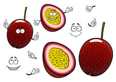South american cartoon exotic passion fruits Stock Photo