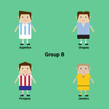 South American Championship. Group B - Argentina, Uruguay, Parag Stock Photos