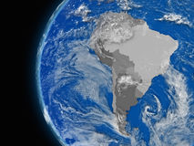 South american continent on political globe Royalty Free Stock Photos