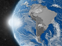 South american continent from space Stock Image