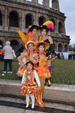 South-american dancers in Rome Stock Images