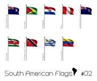 South American flags Stock Photos