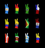 South american flags Stock Photography