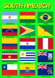South American flags, vector Stock Photo