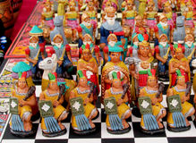 South American indian souvenir chess Stock Image