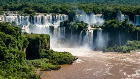 South American Large Amazing Natural Waterfalls royalty free stock photography