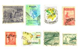 South American Stamps Royalty Free Stock Images