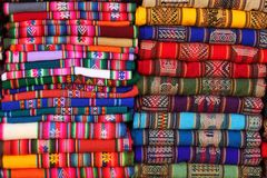 South American traditional fabrics Royalty Free Stock Images