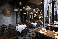 South asia style Features renovated restaurant Royalty Free Stock Images