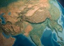 South Asia view. On globus stock photo