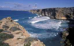 South Australia cliffs. South Australia,  cliffs along the great australian bight and  The Nullarbor plains Royalty Free Stock Photography