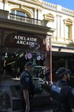 South Australia police officer patrolling in Rundle Mall Adelaide. South Australia Police have over 5000 active sworn members that currently focus on preventing royalty free stock images