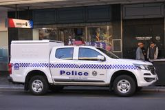 South Australia police vehicle in Adelaide South Australia. South Australia police vehicle. South Australia Police have over 5000 active sworn members that stock photography