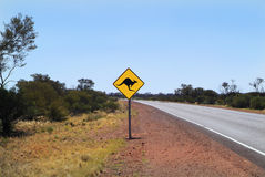 South Australia, warning sign Stock Images