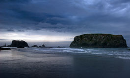 South Bandon Beach. Sunrise shot at Bandon Beach Seastacks, Oregon Royalty Free Stock Images