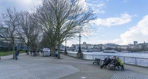 South Bank - οι βασίλισσες Walk Στοκ εικόνες με δικαίωμα ελεύθερης χρήσης