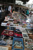 South Bank Book Fair. Underneath Waterloo bridge Southbank London. Often depicted in films as a typical London place to visit. Southbank Centre's Book Market Stock Photo