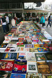 South Bank Book Fair. Underneath Waterloo bridge Southbank London. Often depicted in films as a typical London place to visit. Southbank Centre's Book Market Stock Photography