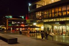 South Bank Centre London. London's South Bank Centre illuminated on a dark autumn evening royalty free stock photos