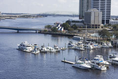 South bank Jacksonville marina Stock Photo