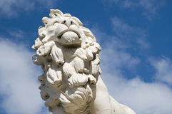 South Bank Lion London. The South Bank Lion at the eastern end of Westminster Bridge in London. The lion, which was originally painted red, was modelled by W.F stock photography