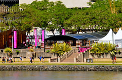 South Bank Parklands - Brisbane Australia. BRISBANE, AUS - SEP 25 2014:Visitors at South Bank Parklands.It's one of Brisbane's most important cultural precincts Stock Images