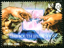 The South Bank Show UK Postage Stamp. GREAT BRITAIN - CIRCA 2005: A used postage stamp from the UK, celebrating The South Bank Show television programme then Royalty Free Stock Images