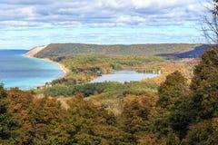 South Bar Lake & Lake Michigan - Empire Michigan Stock Photography